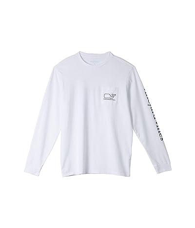Vineyard Vines Long Sleeve Whale Pocket T-Shirt (White Cap) Men