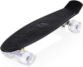 enkeeo スケートボード 22インチ クルーザー ABEC7製ベアリング 高精度 集中力や平衡感覚育成 スケボー初心者に 大人/若者/子供用 誕生日/ギフト/プレゼント/贈り物などに YWHB-27【メーカー保証】