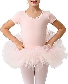Girl Kid Ballet Leotard Dress Gymnastic Dancewear Tutu Skirt Leotrads SZ 2-12Yrs