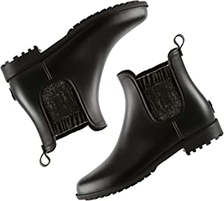 planone Short rain Boots for Women and Waterproof Garden Shoes,Anti-Slipping Chelsea Rainboots for Ladies with Comfortable...