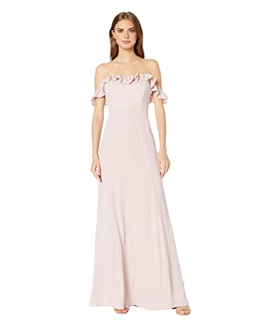 WAYF The Harlow Off Shoulder Gown (Nude Rose) Women