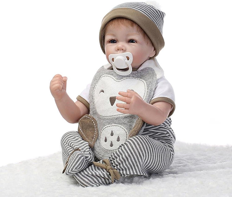 Hongge Reborn Baby Doll,Realistic baby rebirth doll Handmade realistic soft doll 57cm