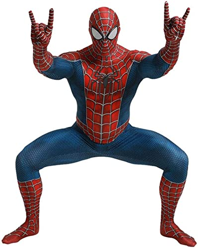 3D Costume Spiderhomme Costume Cosplay Jumpsuit DéguiseHommests Party HalFaibleeen Film Props,femmes-XL