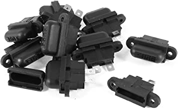 uxcell 10 Pcs Auto Car Boat Truck Blade ATC Fuse Holder Seat Cover Black