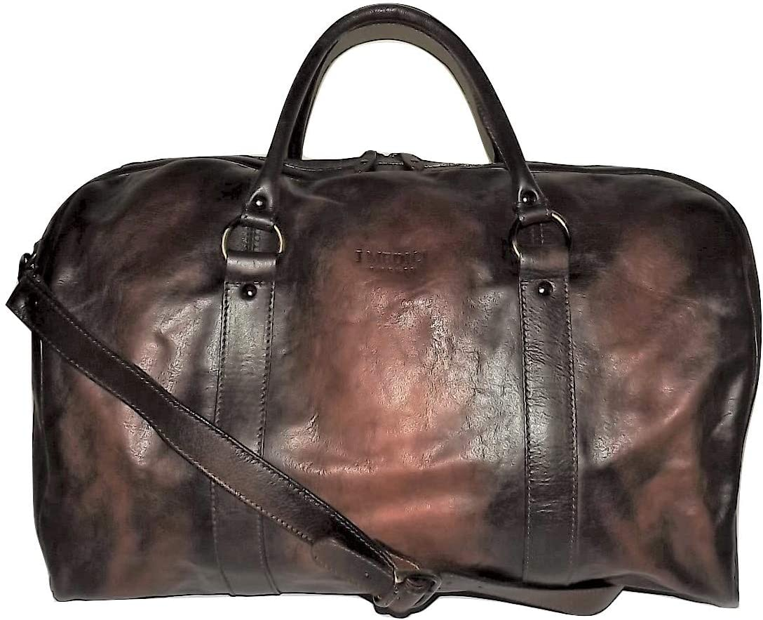 Direct sale of manufacturer Max 69% OFF I Medici Florence Vintage Italian with Leather Lap Bag Duffel