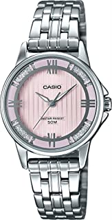 Casio LTP1391D-4A2V Women's Enticer Stainless Steel Crystal Accented Pink Dial Analog Watch