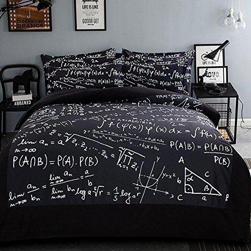 FJLOVE Formula Matematica Camera da Letto di Stampa...