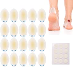 Blister Bandage 20 PCS Blister Gel Pads +12 Dots Acne Patches, Gel Blister Cushion, Waterproof Hydrocolloid Bandages for Foot, Toe, Heel Blister Prevention & Recovery