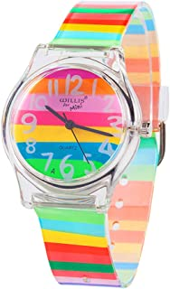 Sponsored Ad - Kids Children Girls Boys Teen Rainbow Watch Stripe Time Teacher Watch Gift