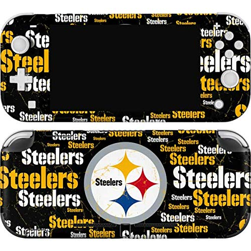 Skinit Decal Gaming Skin Compatible with Nintendo Switch Lite - Officially Licensed NFL Pittsburgh Steelers Black Blast Design