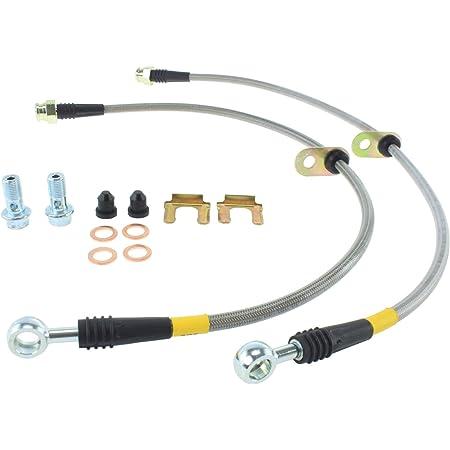 Pro Braking PBF8042-TPU-SIL Front Braided Brake Line Transparent Purple Hose /& Stainless Banjos