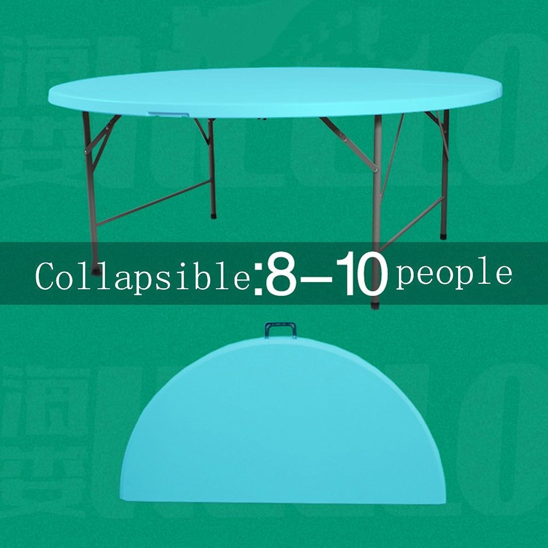 precios mas baratos Folding table LVZAIXI Mesa Plegable rojoonda, doblada por la Mitad. Mitad. Mitad. Un Gran número de mesas rojoondas se sientan cómomujerte para Muchas Personas. (Color   Azul, Tamaño   1.2m)  Precio al por mayor y calidad confiable.
