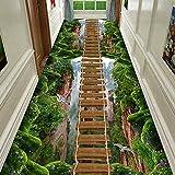 QSQ 3D Druck Teppich Läufer, Flur Hotel Bereich Teppiche Dauerhaft rutschfest Nicht Verblassen für Küche Wohnzimmer Esszimmer,160x300CM