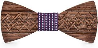 Fashion New Style Mens Womens Wooden Wooden Bow Tie Tie Fashion Apparel Mens Suit Tie Tie Dress JIADUOBAOSEN