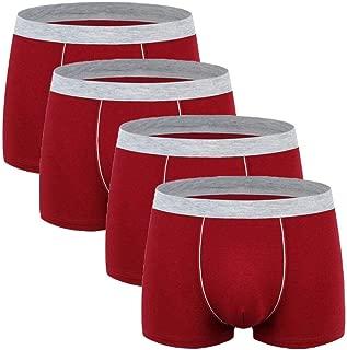Men's Comfort Soft Cotton Plus Size Underpants 4-Pack Boxer Briefs 2 US 6X-Large