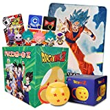 Dragon Ball Z LookSee Subscription Box Version 3 | 5 Themed Collectibles for DBZ Collectors | Includes Fleece Throw Blanket, Ceramic Mug with Lid, 4-Piece Coaster Set, Plush Backpack Hanger & More