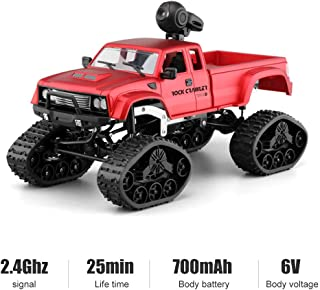 LBLA RC Military Truck Off-Road Sport Cars 4WD 2.4Ghz Rock Crawler Vehicle with Wi-Fi HD Camera Gifts for Kids and Adults(Included 2 Kinds of Wheels )