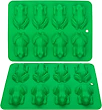Webake Chocolate Molds Frog Candy Mold 2 Pack Silicone Molds For Jello, Keto Fat Bombs, Crayons, Gelatin, Cake Decoration,...