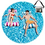 2021 Upgrade Pool Floats Adult Size,2 Pack Pool Hammocks and 1Pack Waterproof Bag