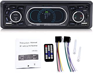 Sazoley SWM 8809 BT Vehicle Car MP3 Player Stereo Audio Player with FM Radio AUX TF Card U Disk Play Built-in Microphone R...