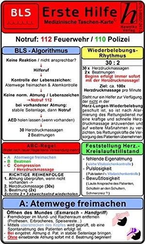 Erste Hilfe - BLS - Medizinische Taschen-Karte