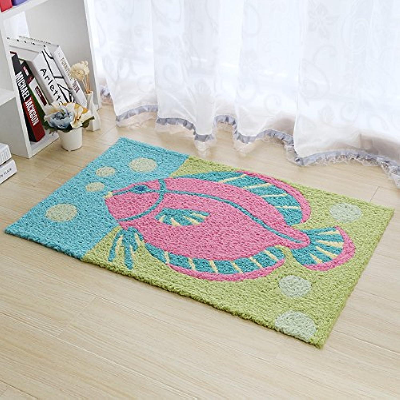 Household Doormat,Floor mat Living Room Doormat Bedroom Bathroom mat Absorbent mat Slip mat Entrance Door mat-E-80x120cm(31x47inch)