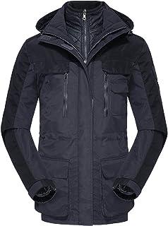 GAOXIAOMEI Long Men's Ski Jacket 3 in 1 Multi-Pockets Mountain Hiking Snowboard Tooling Coat Windproof Waterproof Down Lin...