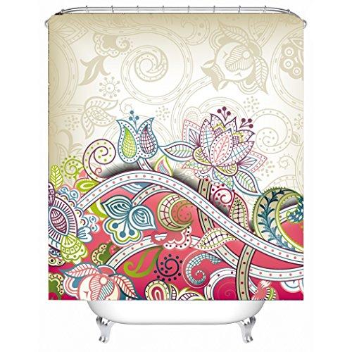 AI XIN SHOP Badezimmer- Kreativer Duschvorhang Hochwertiges Polyester-Material Wasserdichtes und Heavy-Duty Design, Bad Vorhang Haken enthalten (größe : 1.8 * 1.8m)