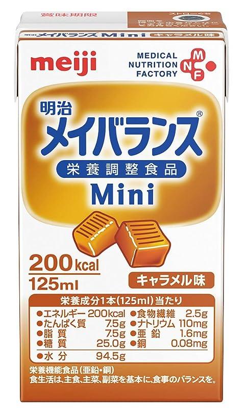 テロ真珠のようなテラス【明治】メイバランス Mini キャラメル味 125ml