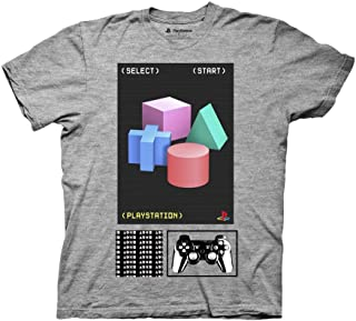 Ripple Junction Playstation Adult Unisex 3D Shape Collage Light Weight Crew T-Shirt