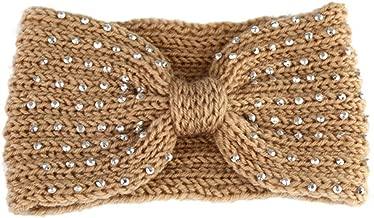 MOPOLIS Womens Winter Knitted Ear Warmer Knot Headband Crochet Bow Wool Hat Hairband | StyleID - Style 111