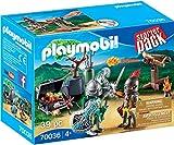 PLAYMOBIL- Starter Pack Starterpack Batalla Medieval, Color carbón (70036)