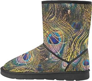 Artsadd Fashion Women's Shoes Skull High Top Womens Snow Boots