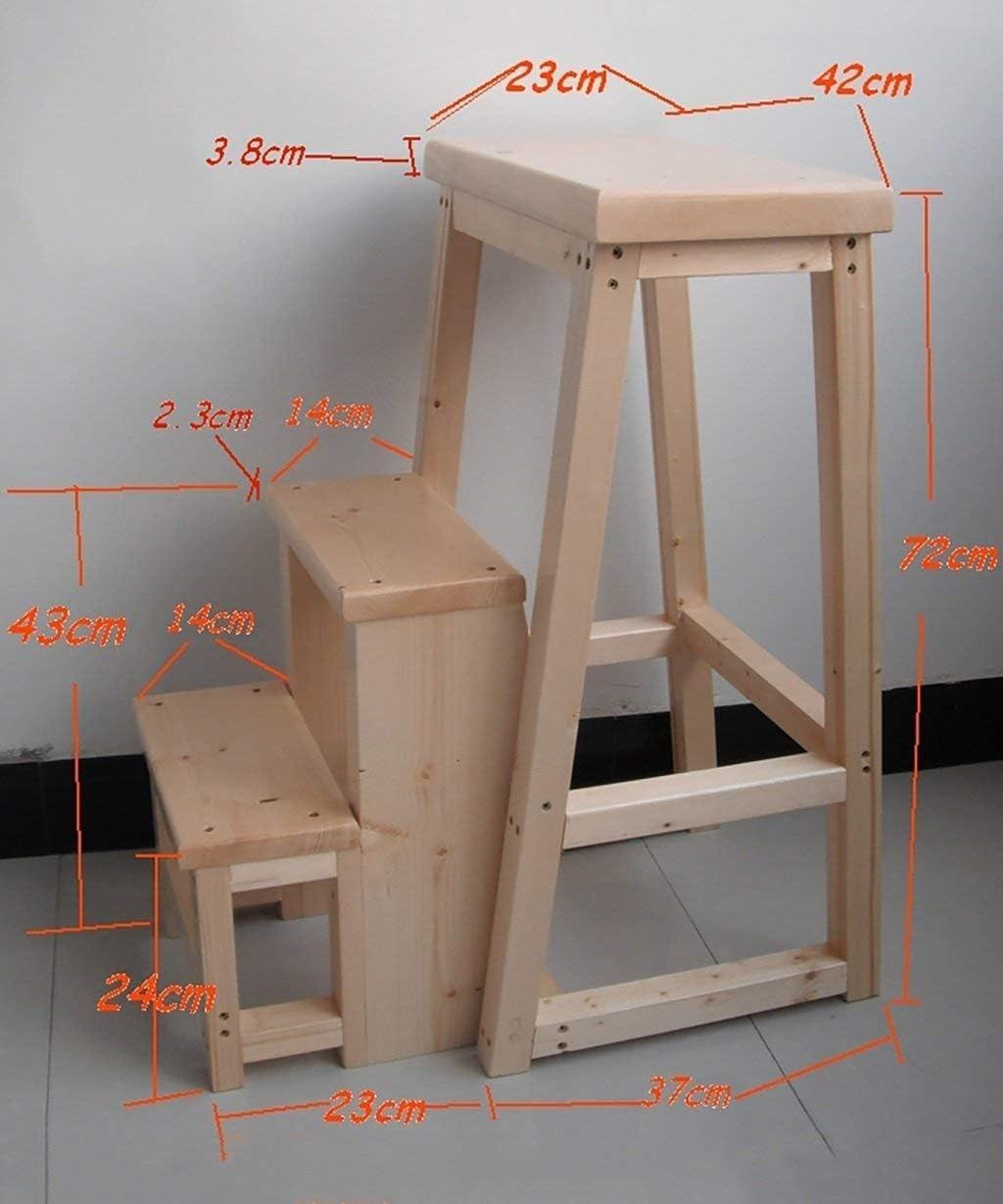 Pouf Tabouret utilité bois chaise échelle pliable en arrière échelle de selles support de fleurs à usages multiples (Couleur: C) Montage facile (Color : A) A