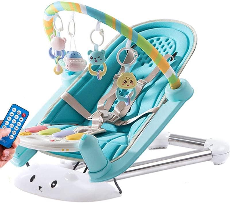 Baby Rocking Chair Baby Comfort Recliner Shake Blue Bed Sleepy Baby Artifact Blue Ordinary
