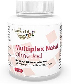 Complejo Multivitamínico Prenatal sin Yodo 120 Cápsulas Vegetales Vita World