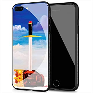 iPhone 11 Case, Tempered Glass Back Cover Soft Silicone Bumper Compatible with iPhone 11 AMB-29 Kanye West