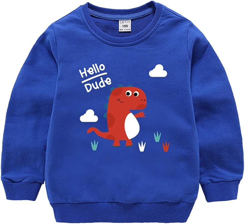 Mud Kingdom Little Boys Sweatshirt Cartoon Dinosaur Pullover