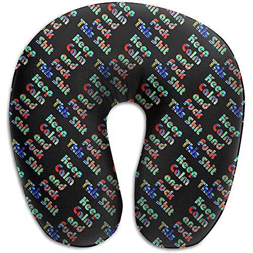 Warm-Breeze Behalten Sie Ruhe und Ficken Sie Dieses Schwarze U-förmige Kissen der Scheißfarbe Erhalten Sie eingewickeltes Nackenkissen-Gedächtnis-Schaum-Kissen