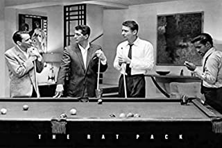 Buyartforless Rat Pack Playing Pool Photograph 36x24 Music Poster, Print, Decorative Accent, Wall Art, Multi-Color