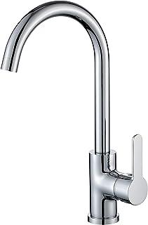 LONHEO Küchenarmatur Wasserhahn Küche Armatur für Spüle, Einhand-Spültischbatterie hoher Auslauf mit Schwenkbereich 360°, Chrom Spültischarmatur DVGW Zertifiziert.