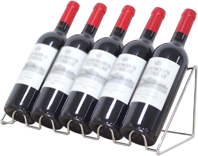 HTDZDX Contador de Vino de Acero Inoxidable Adorno de Vino Mostrador de Barra de mostrador de Vino El Estante de la Botella de Vino (Talla   M)