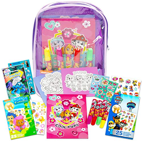 Paw Patrol Bag with Activity Set ~ Paw Patrol Super Activity Set Bundle Includes Sketch Pad, Posters, Stickers, and More (Coloring and Activity Books for Girls)