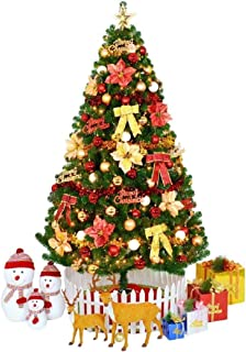 Christmas Trees Pre-lit Optical Fiber Xmastree in Led Lights Ornaments, Eco-Friendly PVC Flame Retardant, Easy Assembly-Colorful (Size : 6Ft(180CM))