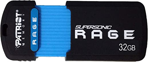Patriot 32GB Supersonic Rage Series USB 3.0 Flash Drive with Up to 180MB/sec- PEF32GSRUSB