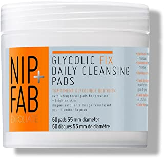 Nip + Fab Glycolic Fix Daily Cleansing Pads, 60 Pads 55mm Diameter