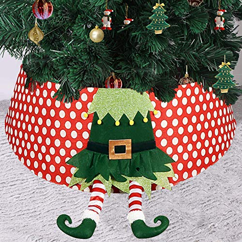 AOLIGE Christmas Tree Collar 30 inch Xmas Tree Skirt Ring with Santa Claus Home Decoration Indoor Outdoor
