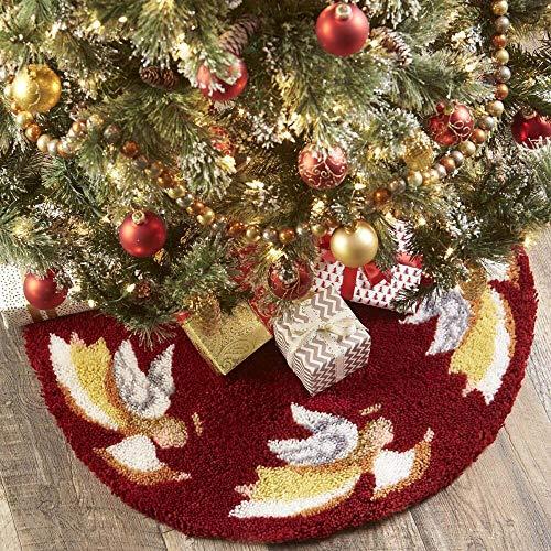 Herrschners Heavenly Angels Tree Skirt Latch Hook Kit