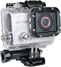 Gotop Silver Edition Full HD 1080p Sports Action Waterproof Mountable Camera w/1.5 LCD mini-HDMI & microSD Slot