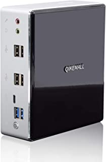 Mini PC Windows 10 Quad Core i7 8559U,Minidator 8GB RAM DDR4 512GB SSD,Mini Computer Dual LAN,HDMI,DP,Type-C, Dual Band W...